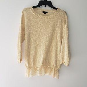 Mine   Lace Knit Sweater